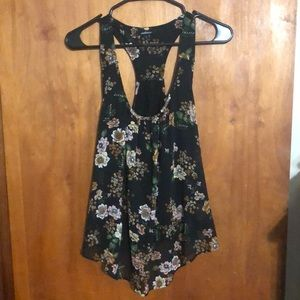 Large ambiance black floral top